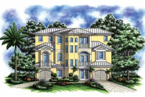 Architectural House Design - Mediterranean Exterior - Front Elevation Plan #1017-134