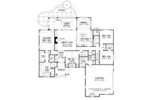 Craftsman Floor Plan - Main Floor Plan Plan #929-978