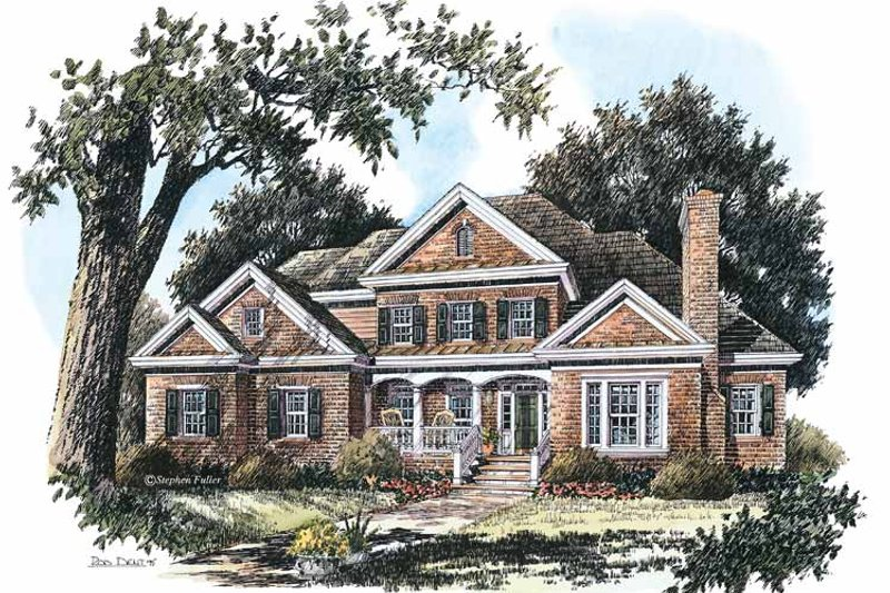 Colonial Exterior - Front Elevation Plan #429-203