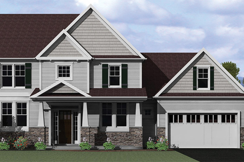 Craftsman Exterior - Front Elevation Plan #1010-117