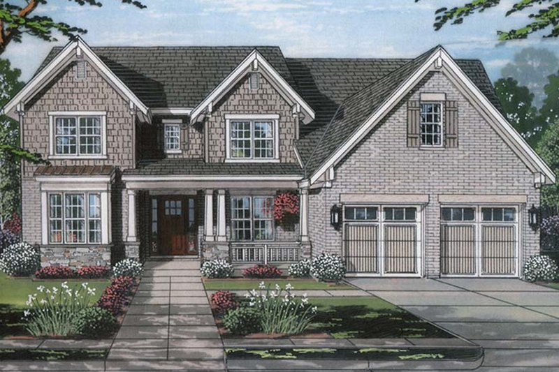Country Exterior - Front Elevation Plan #46-862