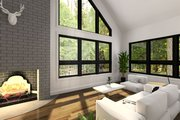 Modern Style House Plan - 3 Beds 2 Baths 1574 Sq/Ft Plan #23-2021 Interior - Family Room