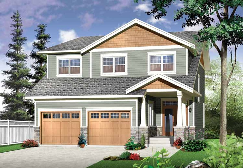 Craftsman style house plan 4 beds 2 5 baths 2271 sq ft for Craftsman style bed plans