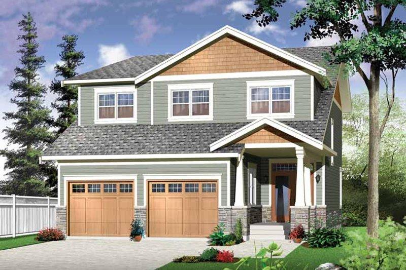 Architectural House Design - Craftsman Exterior - Front Elevation Plan #23-2483