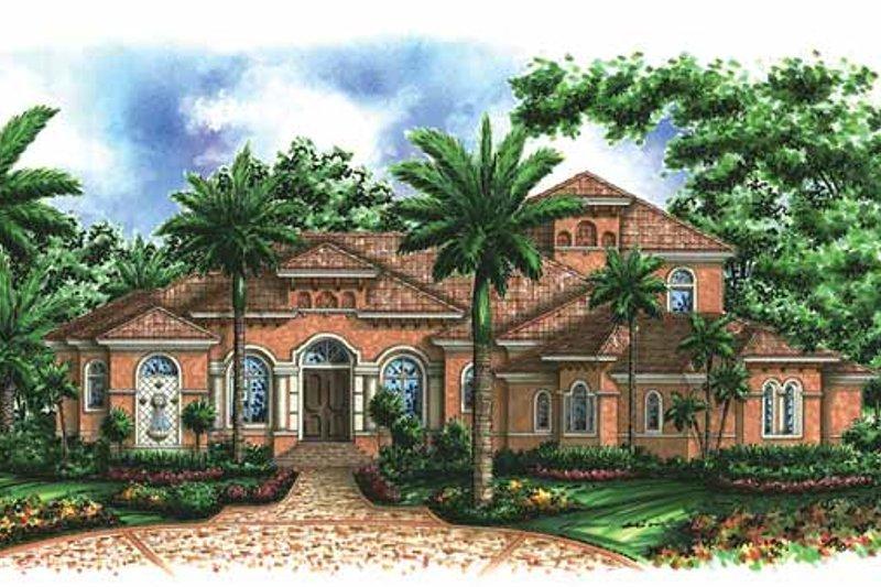 Dream House Plan - Mediterranean Exterior - Front Elevation Plan #1017-40