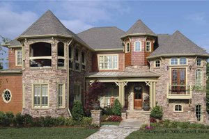 Dream House Plan - Victorian Exterior - Front Elevation Plan #54-268
