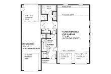 Traditional Floor Plan - Main Floor Plan Plan #118-178