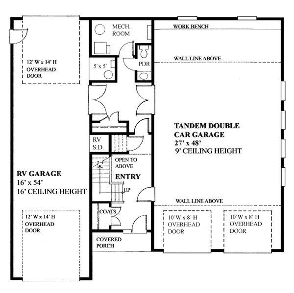Traditional Floor Plan - Main Floor Plan #118-178