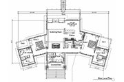 Craftsman Style House Plan - 4 Beds 3.5 Baths 2988 Sq/Ft Plan #451-10 Floor Plan - Main Floor Plan