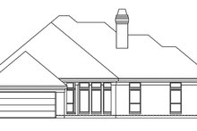 Country Exterior - Rear Elevation Plan #946-8