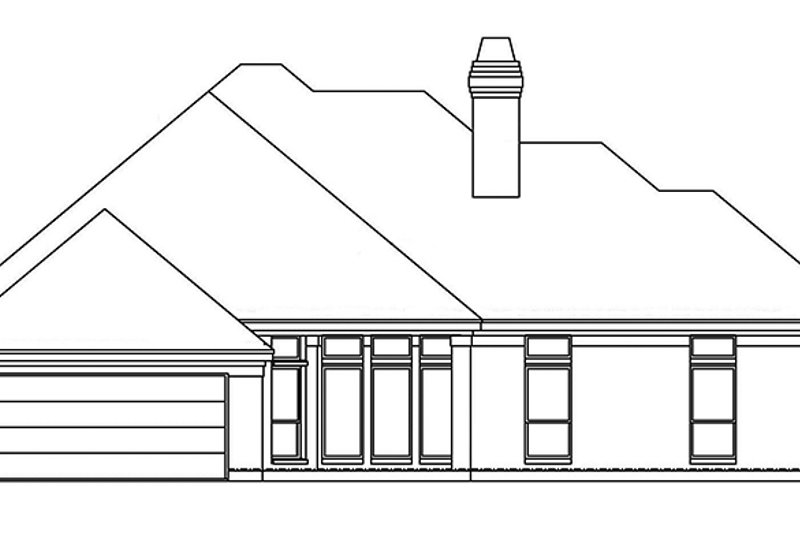 Country Exterior - Rear Elevation Plan #946-8 - Houseplans.com