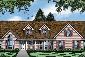 Farmhouse Exterior - Front Elevation Plan #42-285