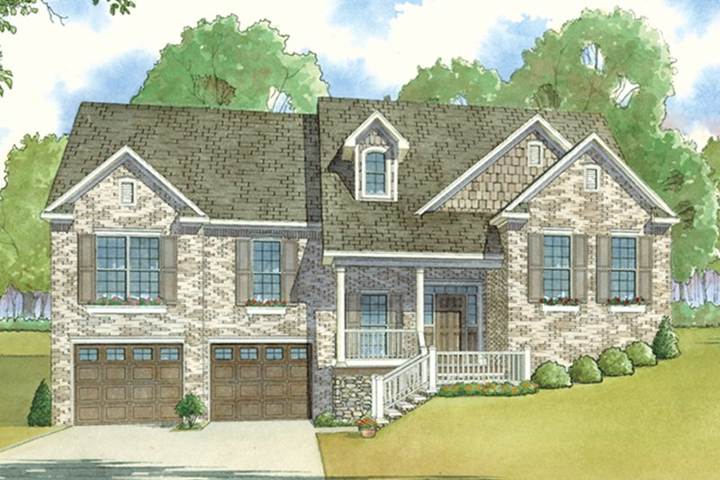 Traditional Exterior - Front Elevation Plan #17-3410