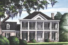 Southern Exterior - Front Elevation Plan #137-147