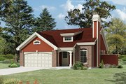 Cottage Style House Plan - 3 Beds 2 Baths 1153 Sq/Ft Plan #57-402