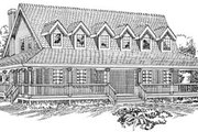 Country Style House Plan - 3 Beds 2.5 Baths 2368 Sq/Ft Plan #47-474 Exterior - Front Elevation