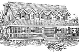 Country Exterior - Front Elevation Plan #47-474