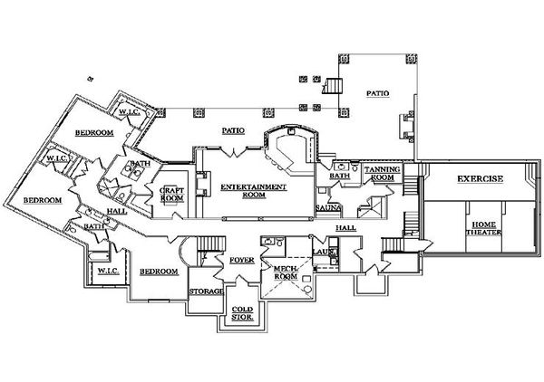 Traditional Floor Plan - Lower Floor Plan Plan #5-339