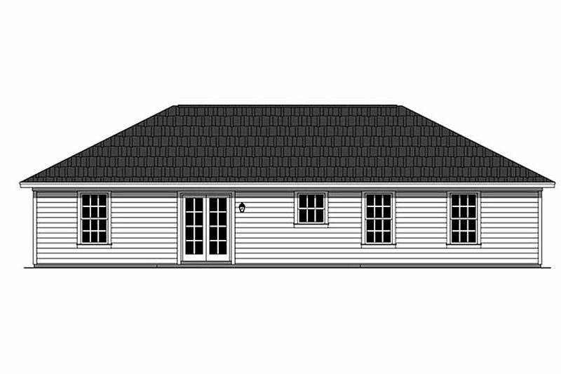 Ranch Exterior - Rear Elevation Plan #21-327 - Houseplans.com