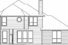 House Design - Traditional Exterior - Rear Elevation Plan #84-140