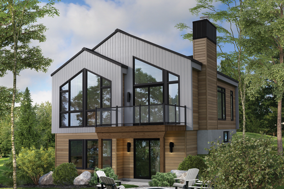 Contemporary Exterior - Front Elevation Plan #25-4932