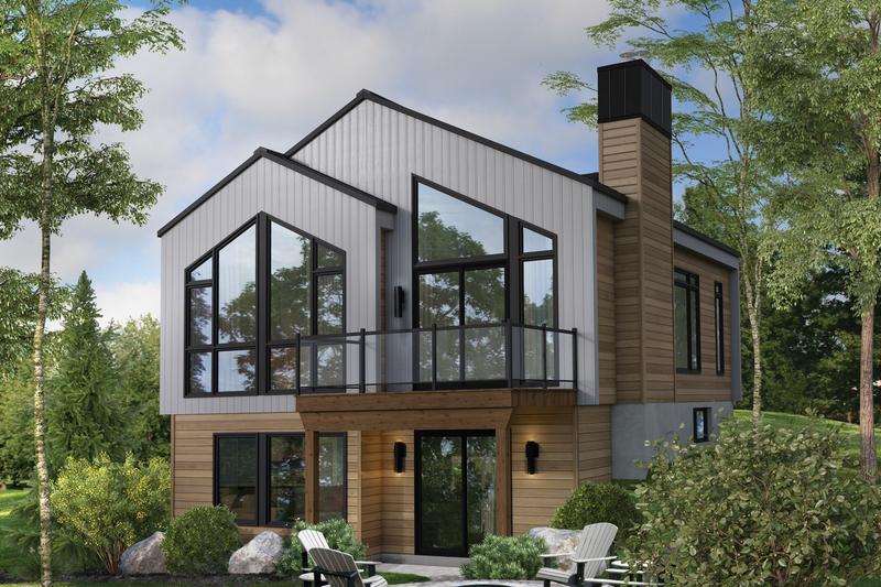 House Plan Design - Contemporary Exterior - Front Elevation Plan #25-4932