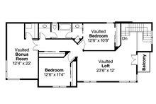 Modern Floor Plan - Upper Floor Plan Plan #124-920