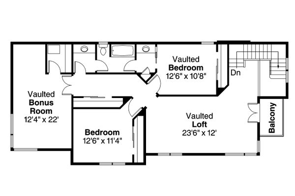 Modern Floor Plan - Upper Floor Plan Plan #124-920