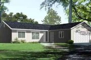 Ranch Style House Plan - 4 Beds 3 Baths 1542 Sq/Ft Plan #1-1264 Exterior - Front Elevation