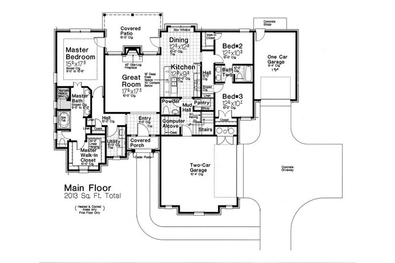 European Floor Plan - Main Floor Plan Plan #310-1288