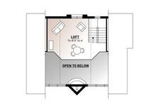 Modern Floor Plan - Upper Floor Plan Plan #23-2023