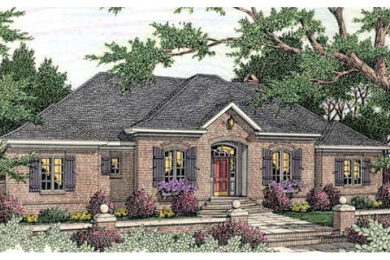 European Exterior - Front Elevation Plan #406-292
