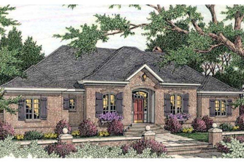 Dream House Plan - European Exterior - Front Elevation Plan #406-292