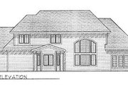 Traditional Style House Plan - 3 Beds 2.5 Baths 2427 Sq/Ft Plan #70-389 Exterior - Rear Elevation