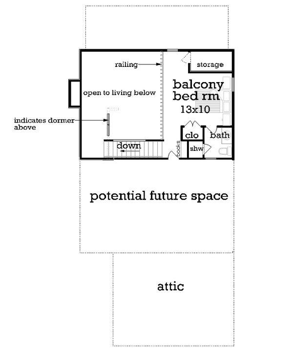 House Plan Design - Craftsman Floor Plan - Upper Floor Plan #45-592