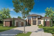 Contemporary Style House Plan - 4 Beds 4 Baths 3708 Sq/Ft Plan #930-461 Exterior - Front Elevation
