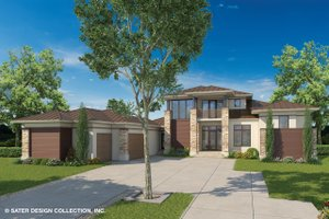 Contemporary Exterior - Front Elevation Plan #930-461