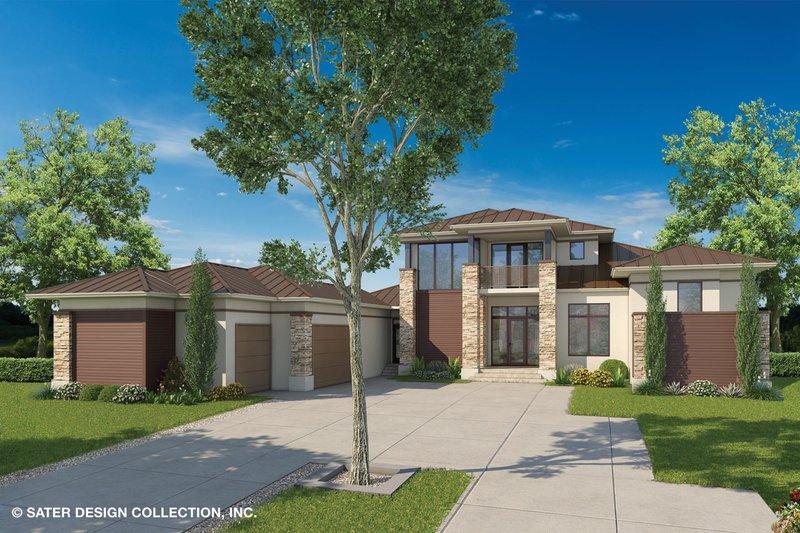 House Plan Design - Contemporary Exterior - Front Elevation Plan #930-461