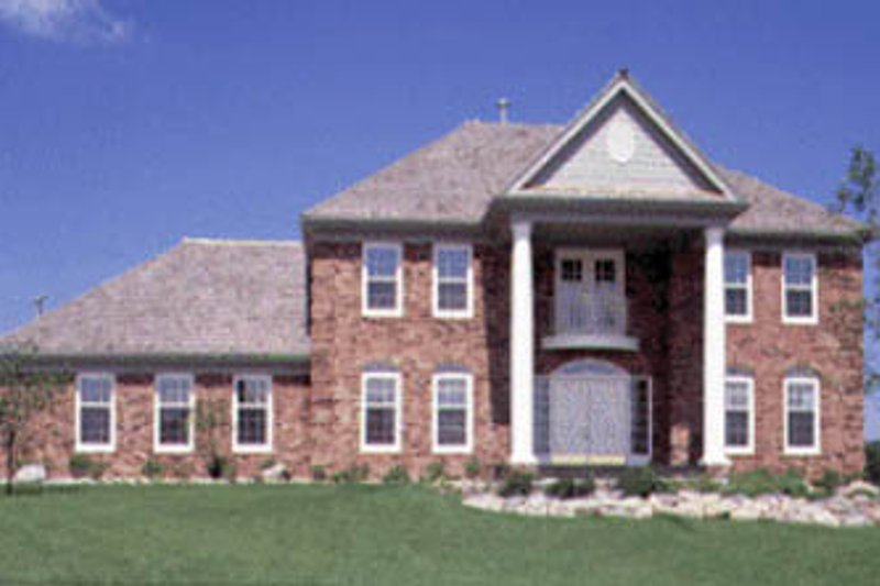 Southern Exterior - Front Elevation Plan #20-1106