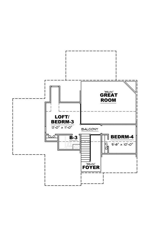 European Floor Plan - Upper Floor Plan #34-233