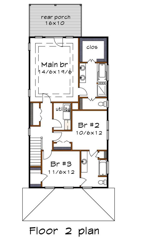 Dream House Plan - Craftsman Floor Plan - Upper Floor Plan #79-317