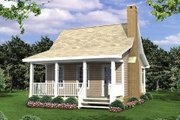 Cottage Style House Plan - 1 Beds 1 Baths 400 Sq/Ft Plan #21-204 Exterior - Front Elevation