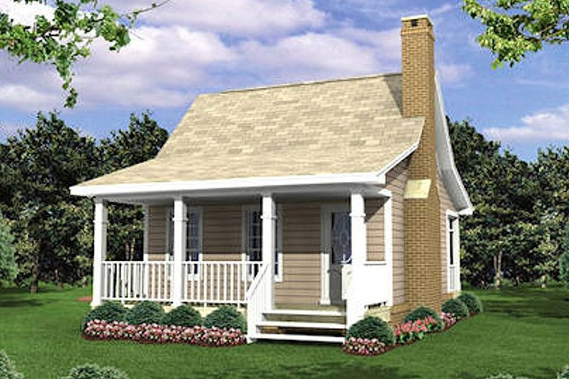 Cottage Exterior - Front Elevation Plan #21-204