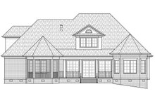 House Plan Design - Colonial Exterior - Rear Elevation Plan #1054-27