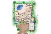Mediterranean Style House Plan - 4 Beds 4 Baths 6098 Sq/Ft Plan #27-524 Floor Plan - Main Floor Plan
