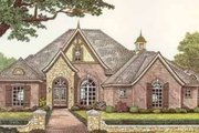 European Style House Plan - 3 Beds 2.5 Baths 2639 Sq/Ft Plan #310-379 Exterior - Front Elevation