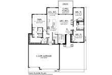 Ranch Floor Plan - Main Floor Plan Plan #70-1477