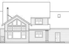 Craftsman Exterior - Rear Elevation Plan #124-823