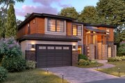 Contemporary Style House Plan - 5 Beds 4.5 Baths 4073 Sq/Ft Plan #1066-45 Exterior - Other Elevation