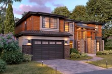 Contemporary Exterior - Other Elevation Plan #1066-45